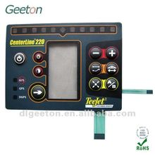 Silicone Rubber Push Button Membrane Switch With LCD Window