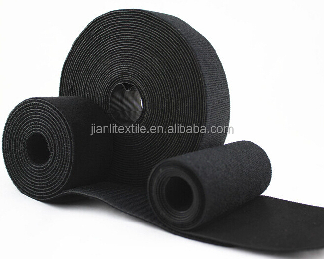 Custom size back to back hook and loop fastener tape