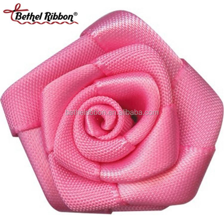 Hot sale for garments Fashion promotional make ribbon rosette