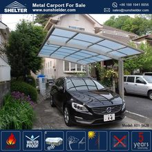 Outdoor Car Garage Anti- UV Polycarbonate Car Shed Design Metal Canopy