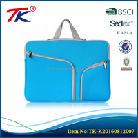 New style protective sleeve liner portable fashionable laptop bags with blue color