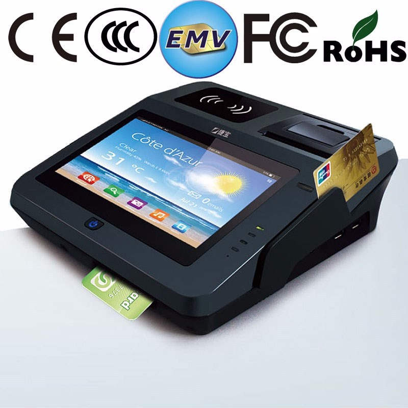 JP762A Android Terminal Pda Pos Machine With Printer Device
