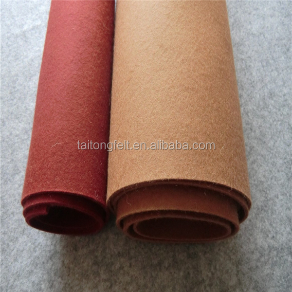 Good feeling hand,Anti-Static Feature and Woolen Yarn Type 5mm thick felt wool