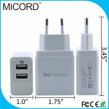 Multiple 2 port mobile usb wall charger, best quality 5V 2A unique design usb wall charger