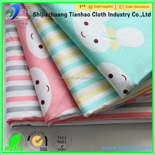 fabric and textile/custom 100 cotton fabric/cartoon animals fabric printing