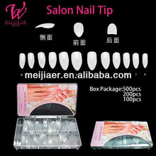 Artificial nail tip nature \white\ clear color full cover nail tips 500pcs per bag package wholesale price