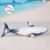 Realistic design Minke Whale soft toy plush material stuffed sea animal toy for kids gift