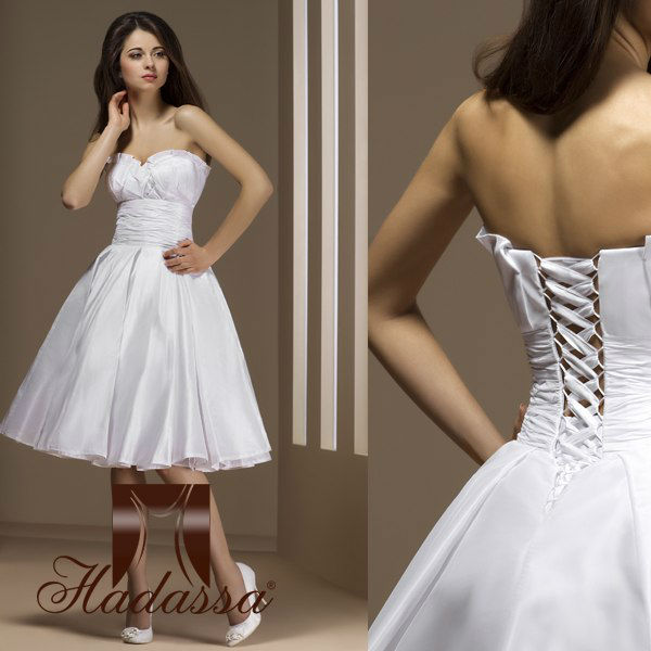 French designe Mini / Short Wedding Dress / Gown Drapery