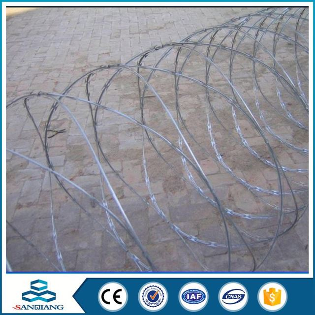 304 Stainless Bto 22 Concertina Razor Wire With Cliped