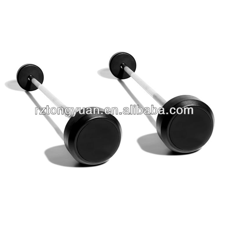 fixed color rubber barbell