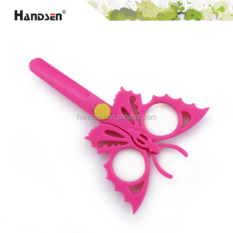 "5"" new butterfly children plastic scissors"