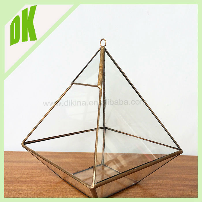 triangle &Round Crackled Gold Mercury Votive Candle Holder or Vase for Weddings, Party, Gift wedding crackle glass votive holder