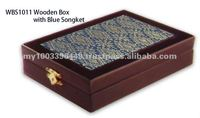 WBS1011 Wooden box with songket