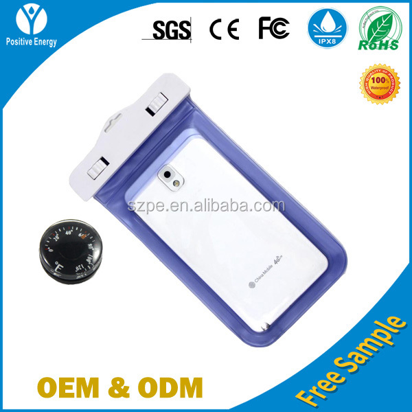 PVC waterproof cellphone case