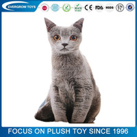 2017 lifelike soft stuffed siamese cat animal toy toy