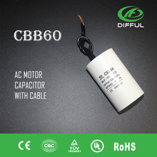 20uf white plastic capacitor cbb60 for water pump