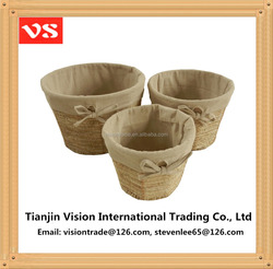 2016 new design!!! Round natural & environmental kitchen fruit/food/vegetable storage baskets maize woven storage baskets