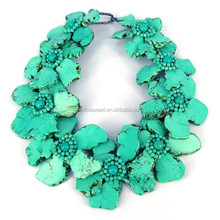 A-4361 African Handmade Flower Necklace Jewelry For Women