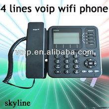 support wifi connections 4 lines wireless+voip+sip+phone