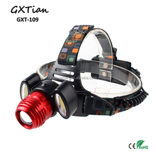 Wholesale 3LED Rechargeable COB LED Headlamp with Battery