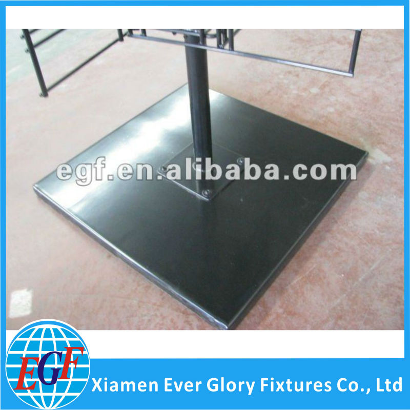 4 Sided Metal Floor Revolving Display Rackwith Sign Holder