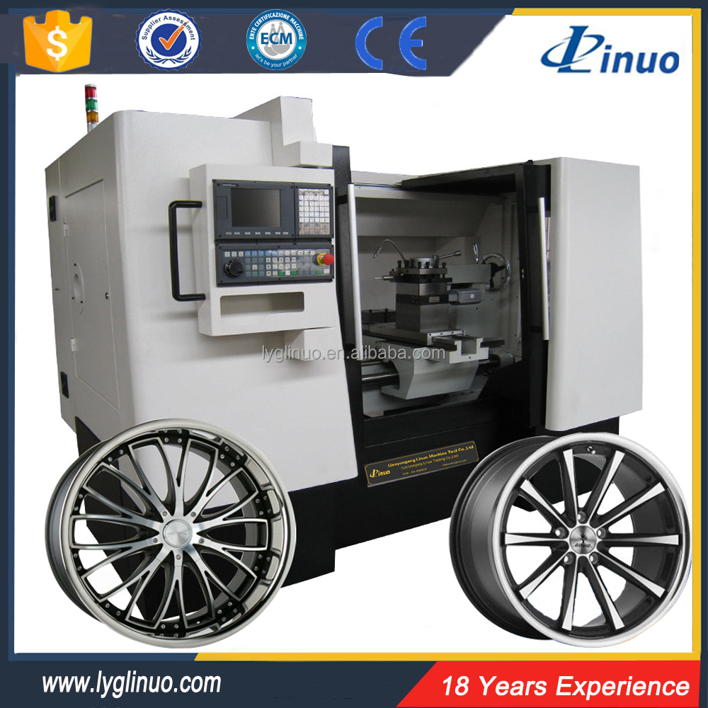 Diamond cutting AMR6187W alloy wheel repair machine cnc lathe