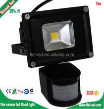2700~6500K 10W led sensor flood light Outdoor Waterproof IP65