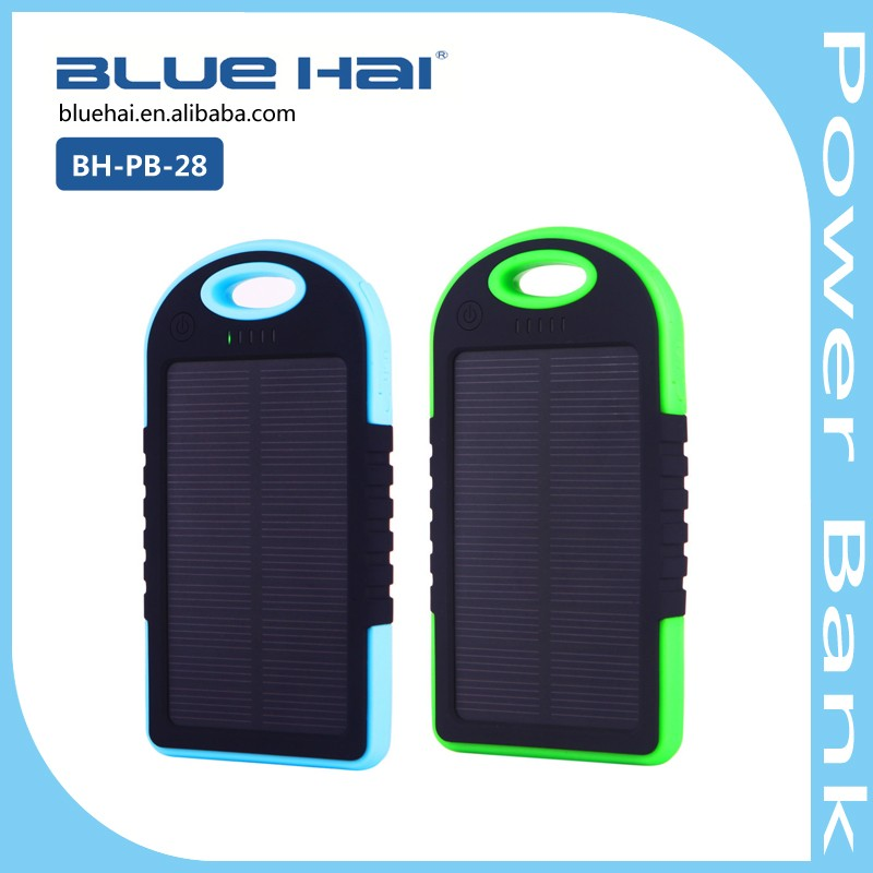 Stylish Outdoor Solar Charger Powerbank Full Capacity 5200mah Power Bank For Camcorder