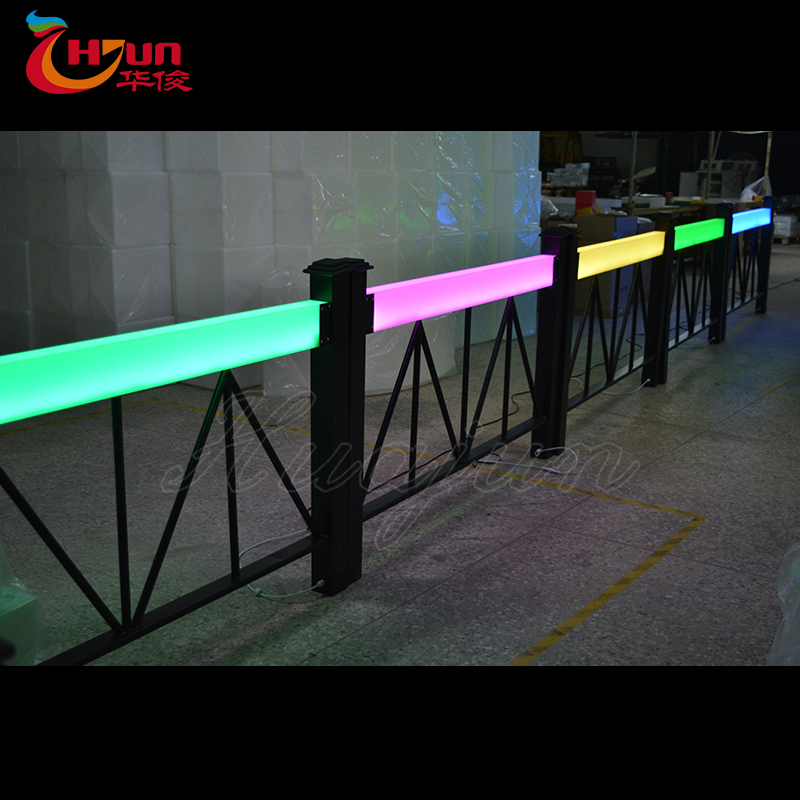 led house railing designs/led plastic railing/led waterproof house railing