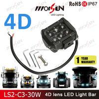 Morsun 2016 New!! 4D led light bar,18w flood double row led bars, offroad 12v 24v mini 4D light bar for jeep wrangler,cars,truck