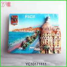 YC10171111 Fridge magnet3d with France famous tourist city Nice souvenirs
