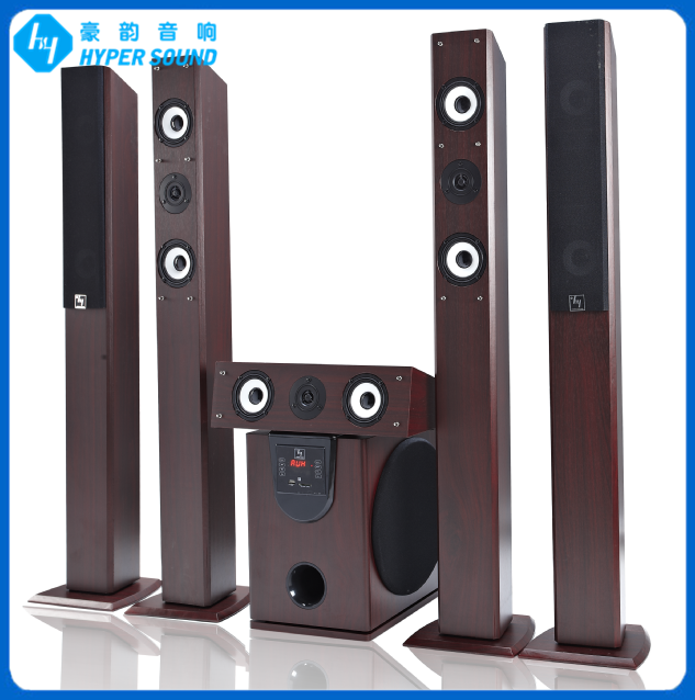 5.1ch active tower logic home theater with full wooden speaker(IA-6120HT-1)