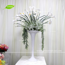 GNW CTR161110-001 tall glass vases for wedding artificial Tulip and babysbreath centerpieces