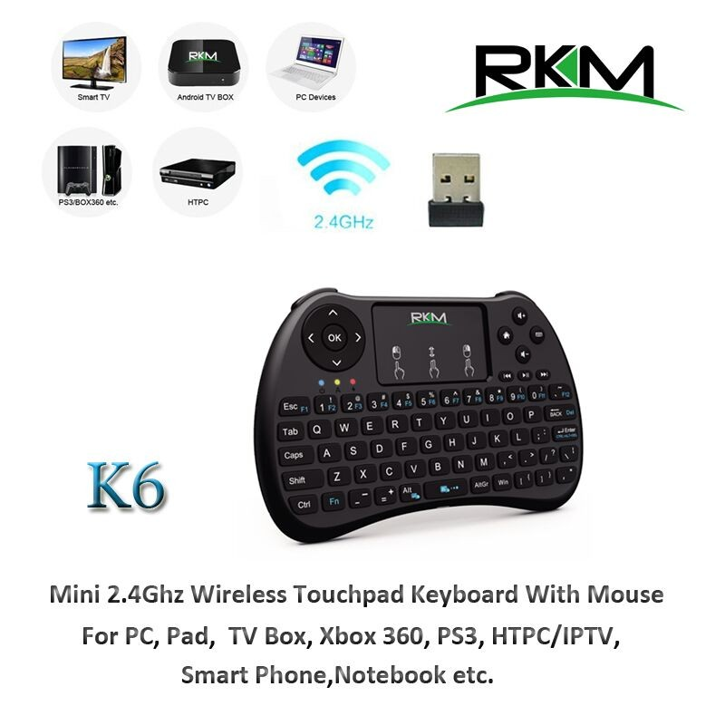 OEM/ODM Wireless Keyboard with Touchpad Mouse for Android TV Box, PC etc