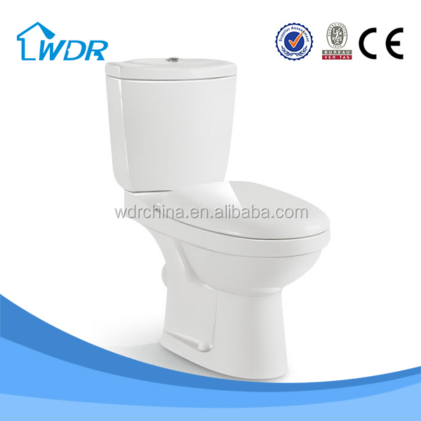 Washdown wc white ceramic two piece quality chinese prison toilet