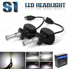 NEW Arrival S1 LED headlight H7 kit 100% waterproof 4000LM All in one design LED headlight bulbs