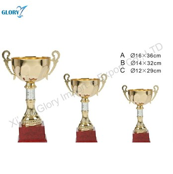 New Golden Metal Cups and Trophies For Awards