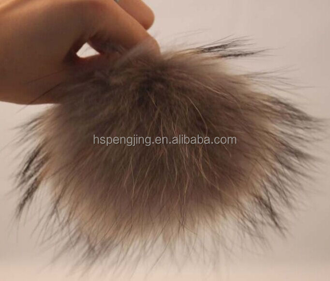 / Raccoon Decorative Fur Pompom 100% Handcrafted/Racoon Fur Pom Poms Balls 100% Real Ball China Raccoon Fur