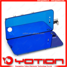 Large Wholesale lcd with digitizer for iphone 4 mirror blue screen replacement