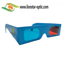 Logo Customized Paper 3D Glasses for Personal Cinema Glasses,Exquisite Paper Craft Red Cyan Glasses