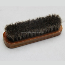 Factory Direct Sale Horseman Brush Wooden Horsehair Shoe Polish Brush