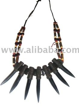 Wild Carabao Water Buffalo Horn Headhunter Necklace