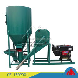Fully stocked factory directly animal feed grinder and mixer /Vertical crusher mixer for livestock feed