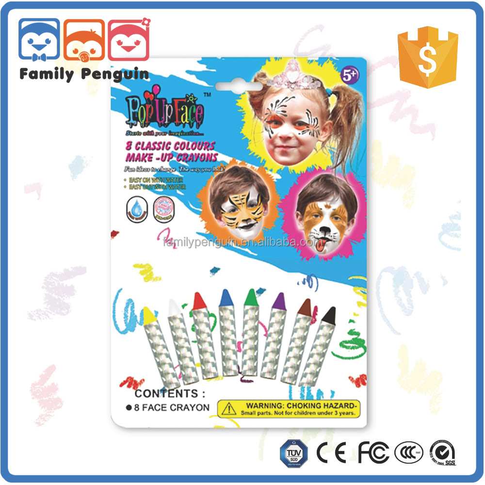 8 classic colours make-up crayon kids make up cosmetics face painting kits for kids
