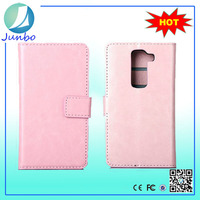 Factory Price High-class PC+PU Leather Wallet Phone Cover for lg g2