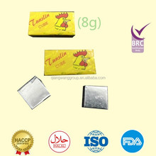 HALAL 8g/pc*72pcs/box tunslin brand chicken seasoning cube soup seasoning chicken bouillon
