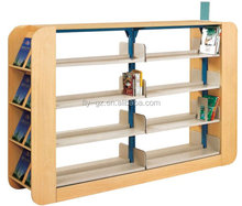 Library used book shelves, Fireproof Wooden Bookshelf