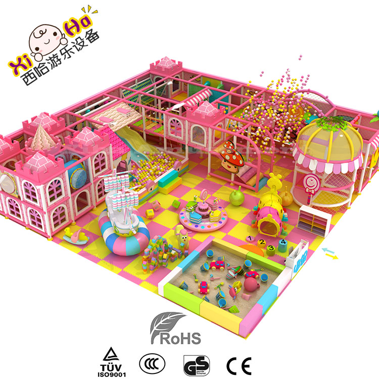 kids residental indoor mini playground equipment for shopping mall