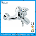 Brass bath tap mixer with single handle