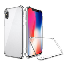 TPU edge mobile phone shell transparent pc back shockproof anti slip phone case for iphone x case